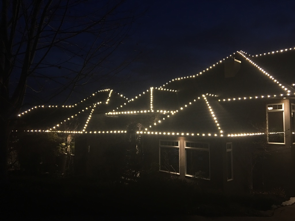 Complete Roofline Light Installation