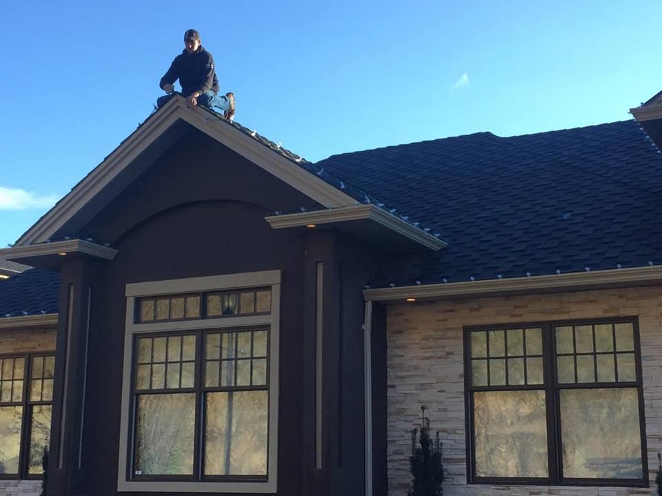 Exterior Home Light Installation In Progress